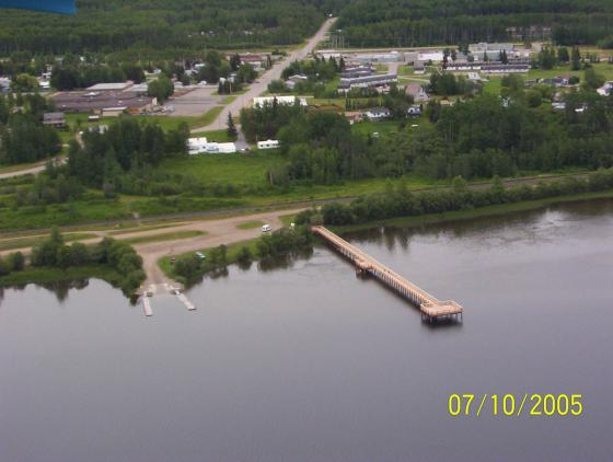 View of the Completed Wharf From the Air